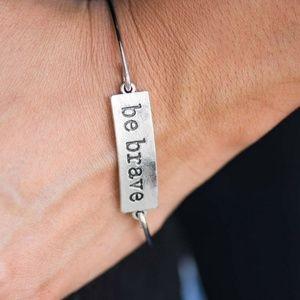 Bracelet - Be Brave Silver